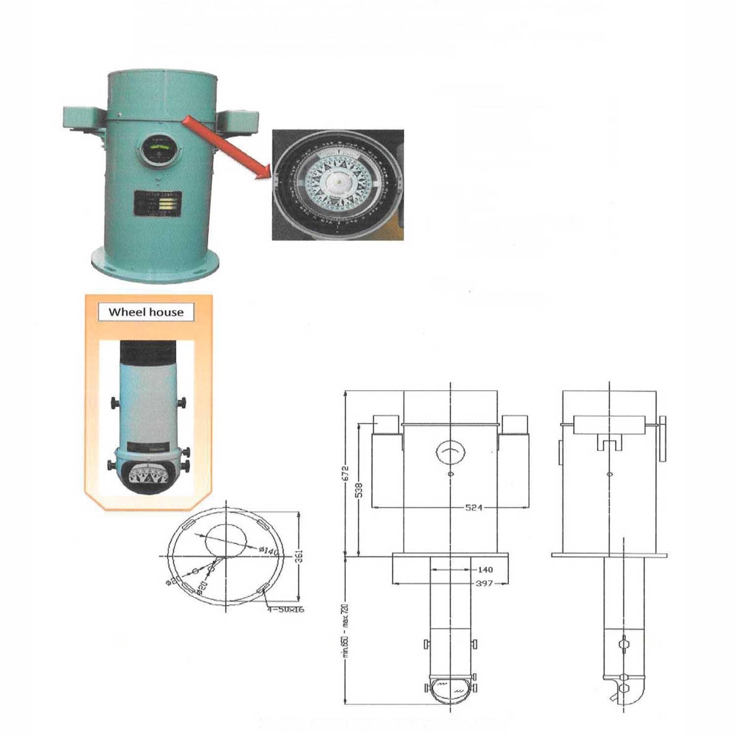 Reflector Compass Daiko SR2-150PK